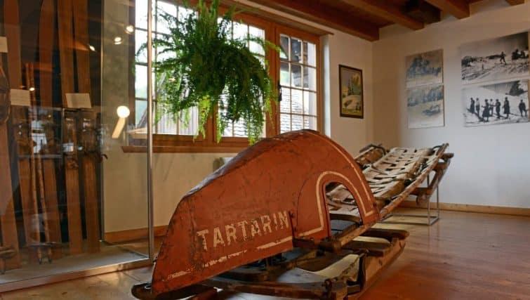 Intérieur du musée du tourisme à Interlaken