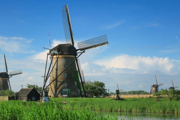Moulins à vent et musée de Kinderdijk, Pays-Bas
