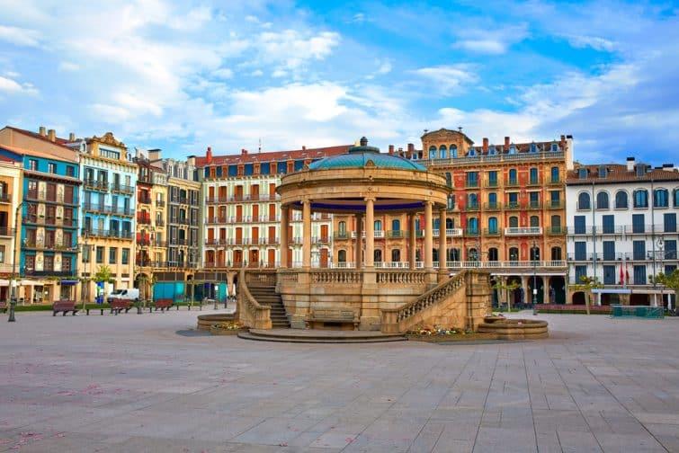 Pampelune Navarra en Espagne place du Castillo centre ville