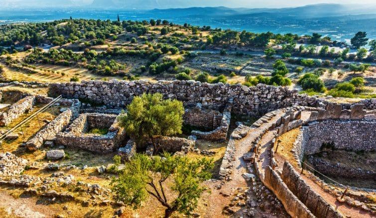 Les ruines de Mycènes