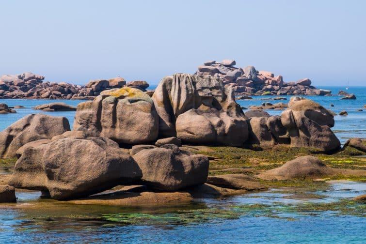 Les rochers de granit rose, à Perros-Guirec