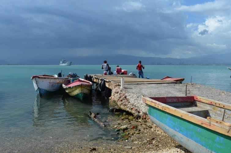 Pêcheurs à Port Royal, Kingston, Jamaïque