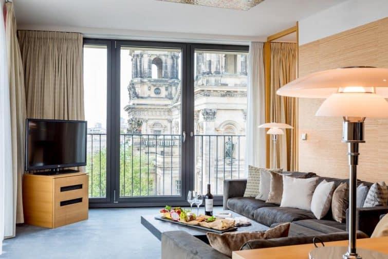 Chambre avec vue au Radisson Blu Hotel, Berlin