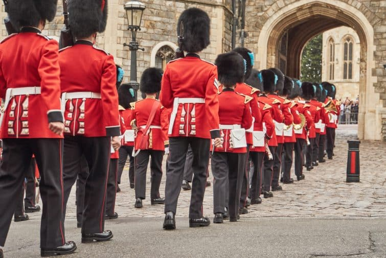 Relève de la garde à Buckingham Palace, Londres