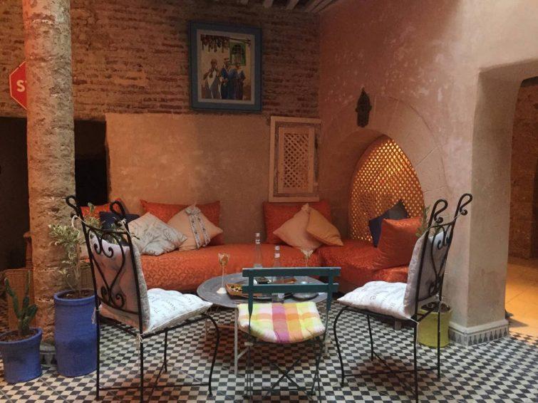Salon extérieur, Riad Dal Azma, Essaouira