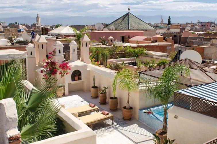 Toit terrasse au Riad Vert, Marrakech