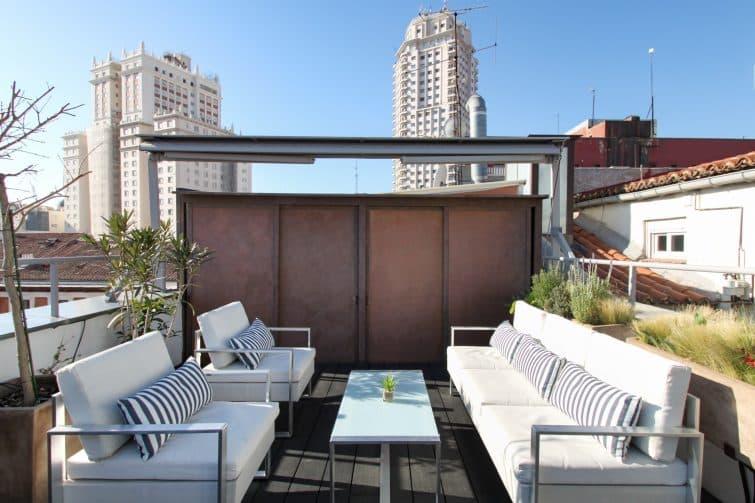 Rooftop dans un Airbnb à Madrid