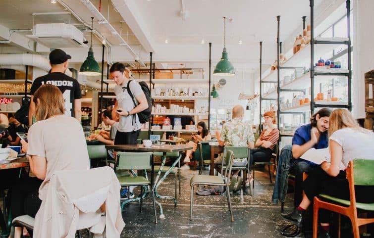 Restaurant café à Shoreditch, Londres