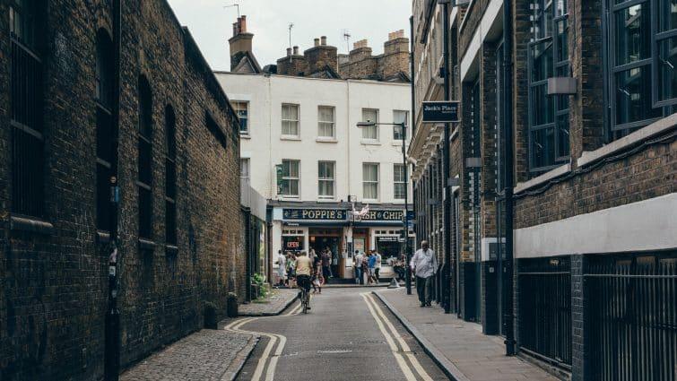 Rue dans Shoreditch, Londres