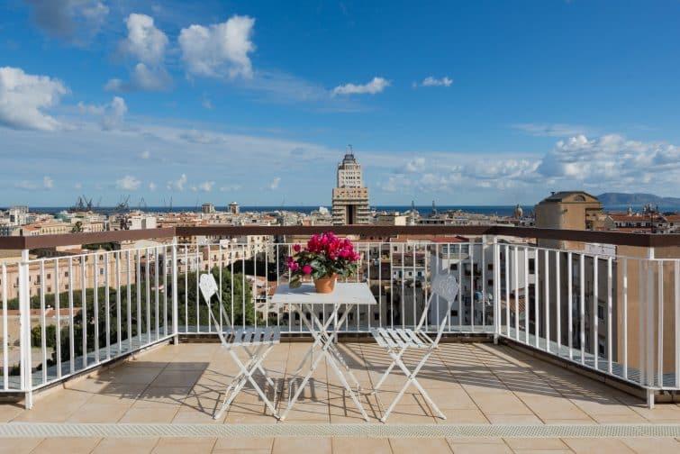 Penthouse avec vue panoramique en plein Palerme