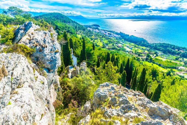 Vue du sommet de la Colline de Marjan