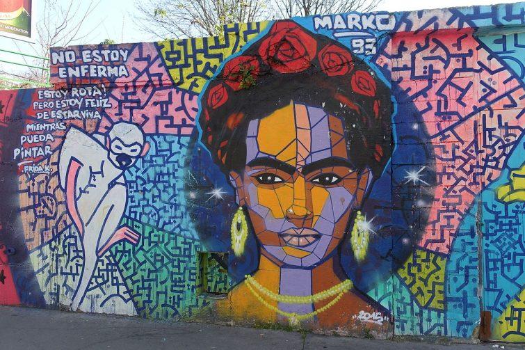 Frida Kahlo, oeuvre de street art à La Villette, Paris