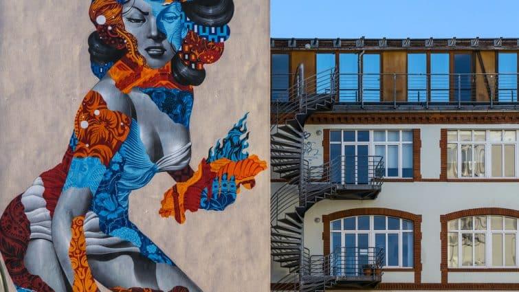 Oeuvre de street art à prenzlauer berg, Berlin