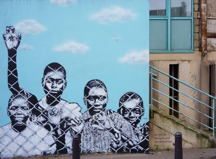 """""""La Liberté"""" , oeuvre de street art par Icy and Sot, Vitry-sur-Seine"""