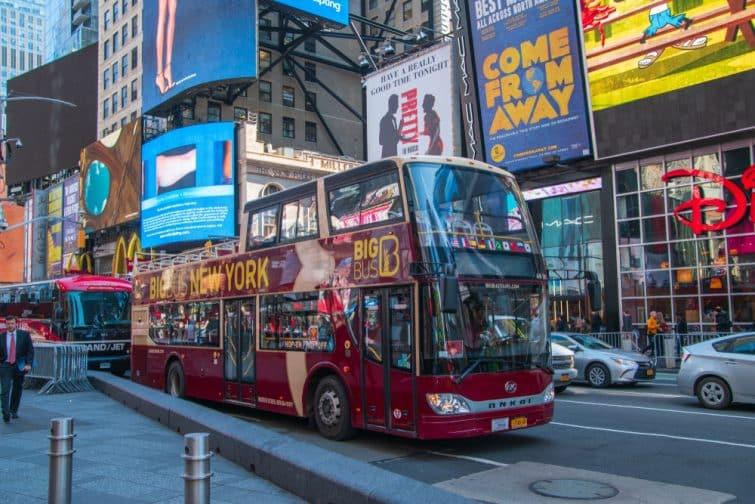 Visiter Times Square en bus
