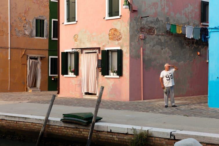 Scène de vie locale à Venise