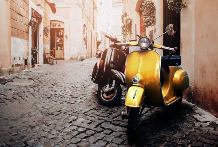 Visites guidées à Rome, en Vespa