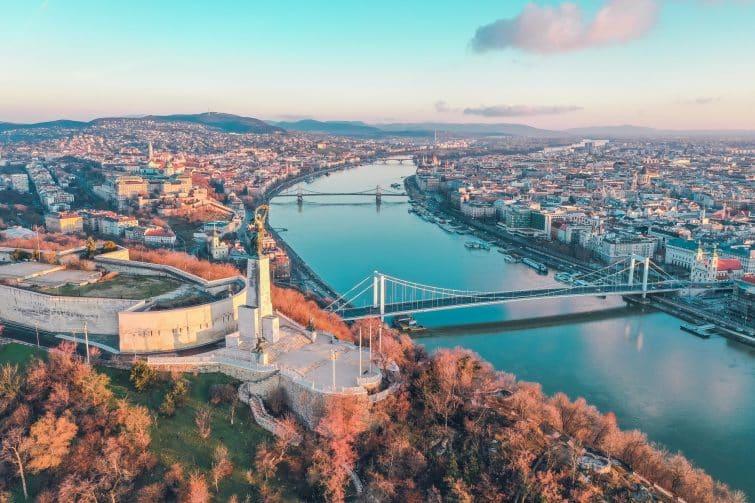 Vue panoramique sur Budapest