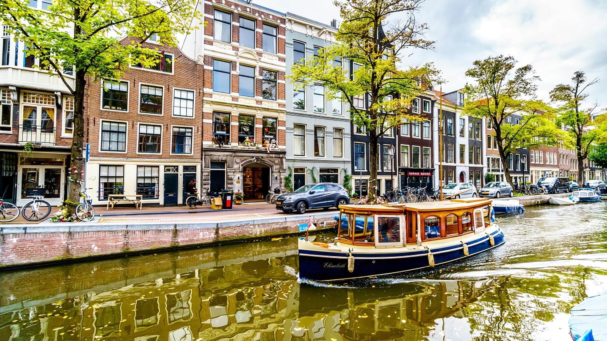 Bateau sur le canal, Jordaan, Amsterdam