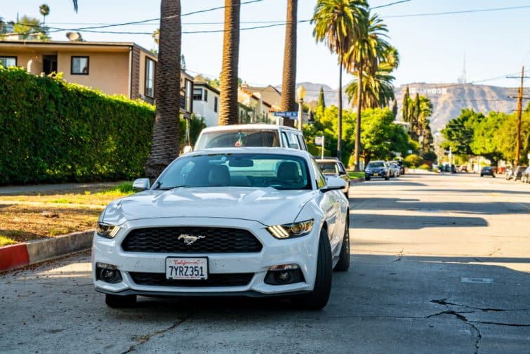 Louer une voiture à Los Angeles, comme une mustang