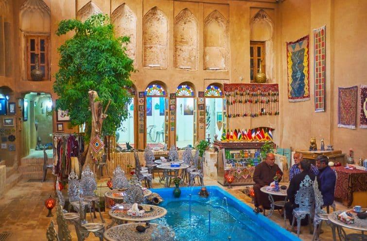 Un restaurant typique de Yazd