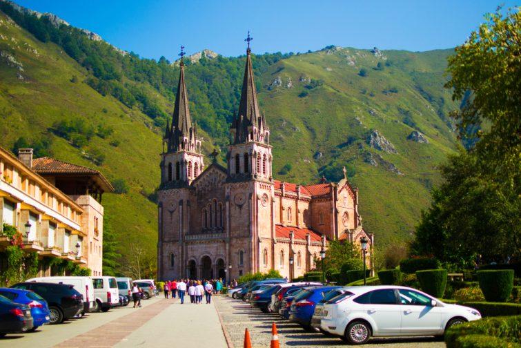 Basilica de Santa Maria la Real de Covadonga, Asturies, Espagne