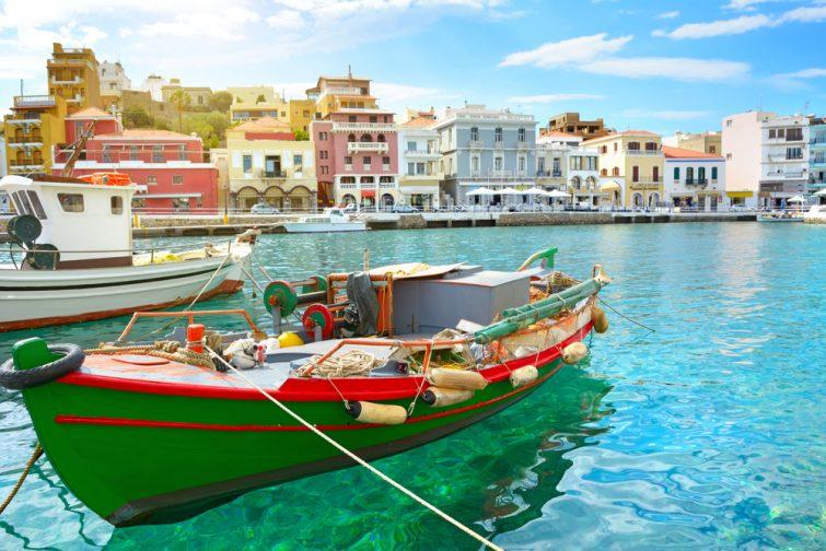 Bateau. Agios Nikolaos. Crète, Grèce