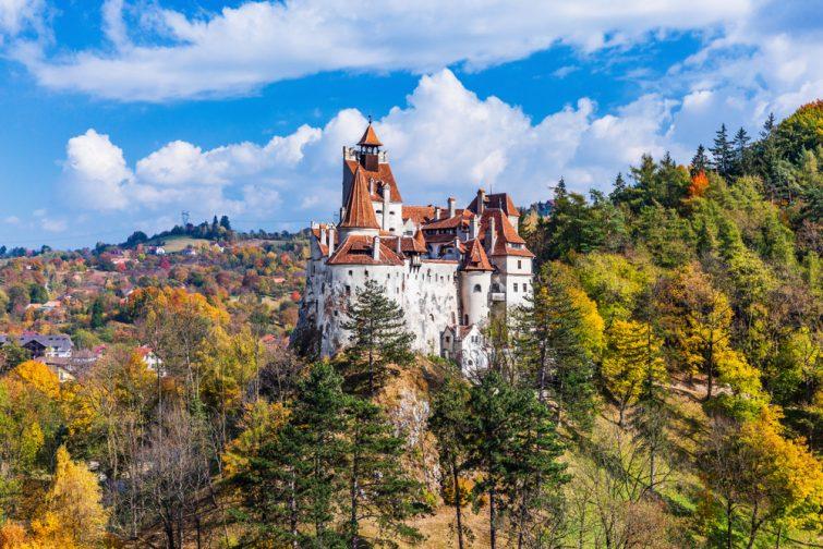 Brasov, Transylvanie. Roumanie. Le château médiéval de Bran, connu pour le mythe de Dracula.