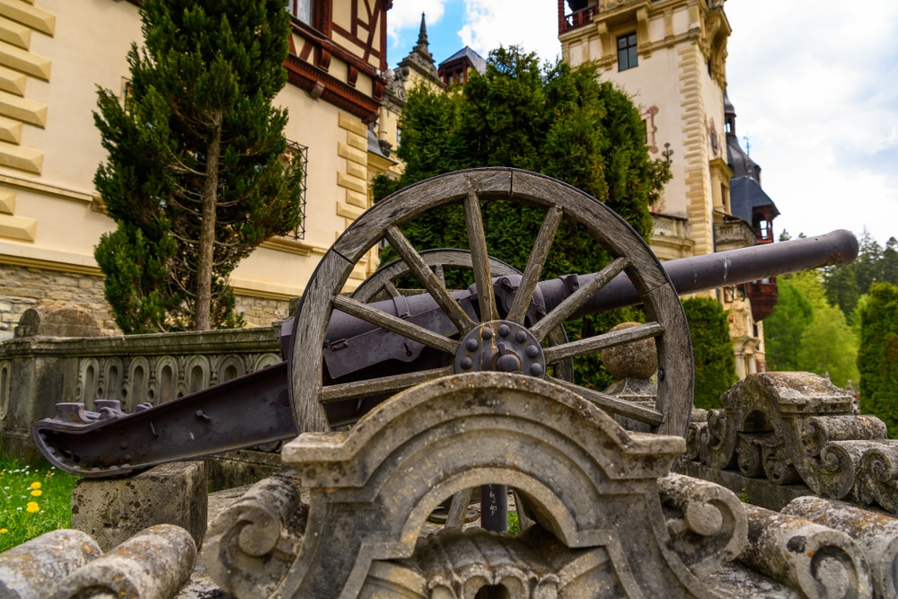 Canon at the Peles Castle