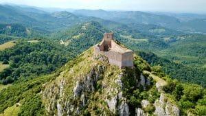 Château cathare de Montségur. château en France