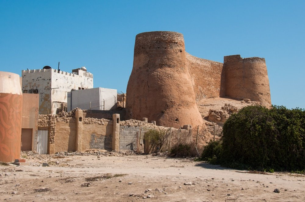 Fortifications du château de Tarout, île de Tarout, Arabie Saoudite.