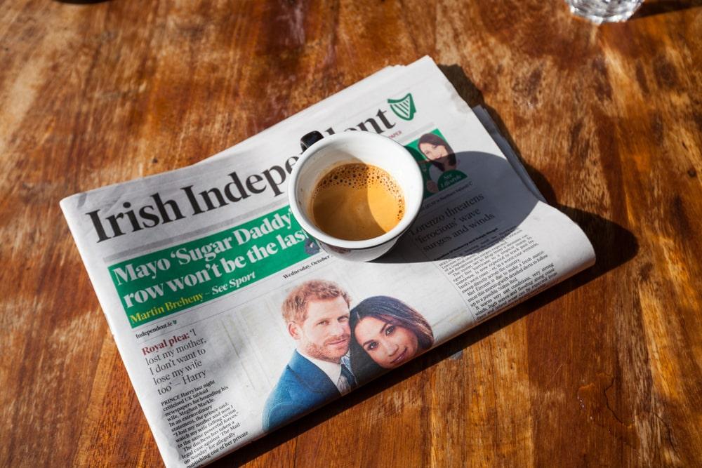 Irish Independent journaux britanniques et américains