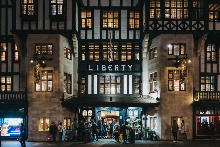 Liberty Department Store in Oxford Circus, London