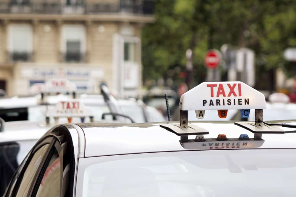 Parisian taxi, Paris, France