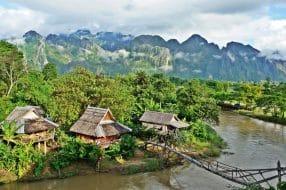 Petit village de Vang Vieng