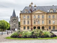 Place de la Comedie in front of Opera building in Metz, France