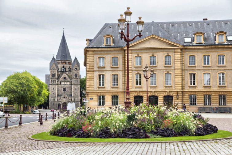 Place de la Comedie in front of Opera building in Metz, France