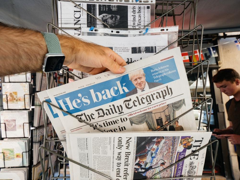 The Daily Telegraph journaux britanniques et américains