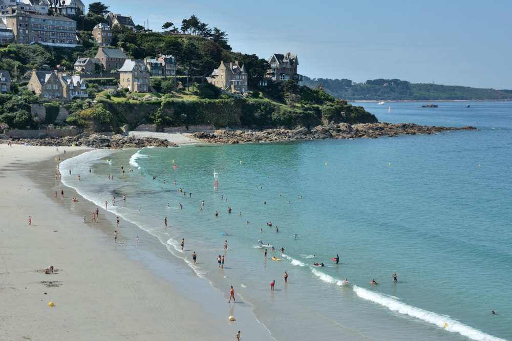 Trestrignel beach of Perros-Guirec in Brittany. France