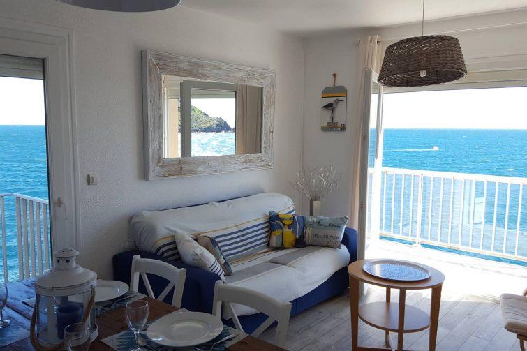 Airbnb avec vue sur la mer à Collioure