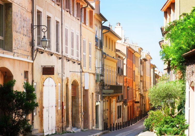 Rue typique d'Aix en Provence
