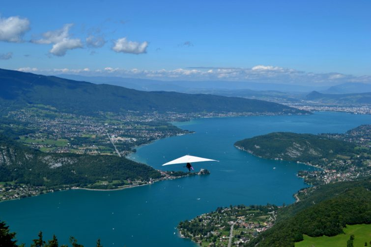 annecy lac deltaplane