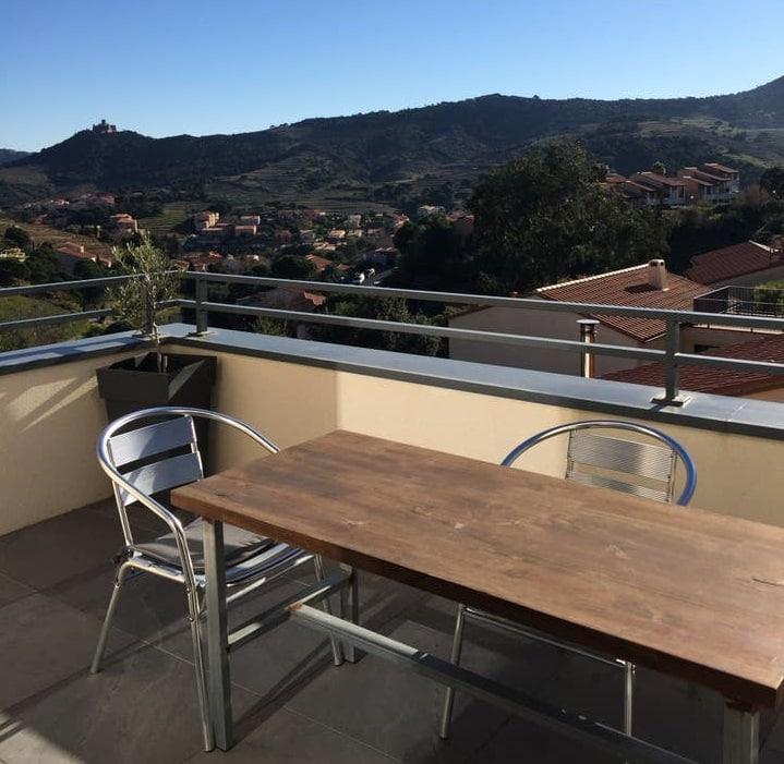 Appartement avec vue sur les hauteurs de Collioure