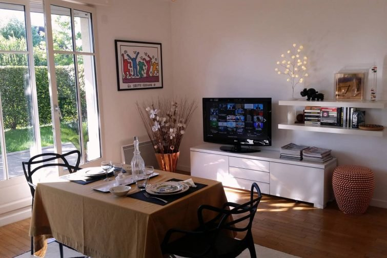 Appartement avec jardin, style normand, Deauville