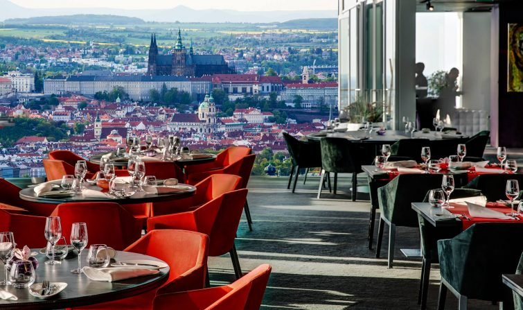 Aureole, restaurant, rooftop, Prague