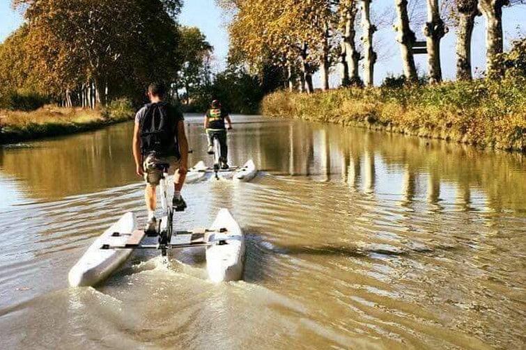 Faire du Waterbike sur le Canal du Midi