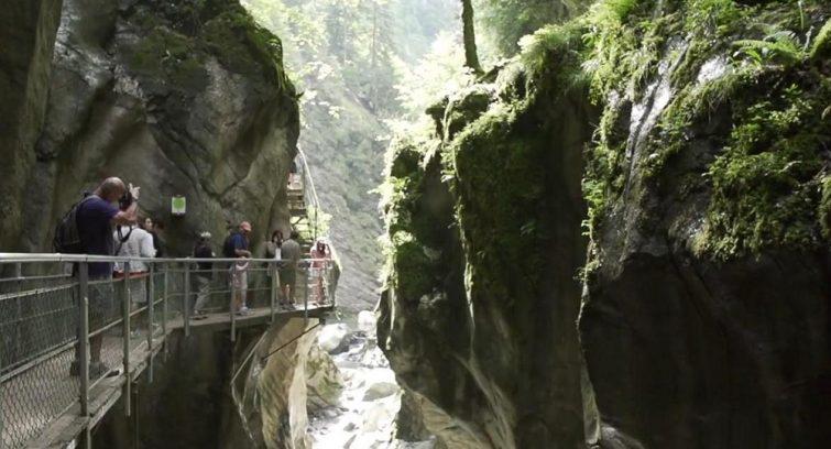 Canyon dans les Gorges su Diable près d'Annecy