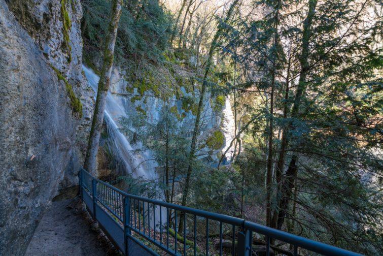 Les cascades d'Angon près d'Annecy