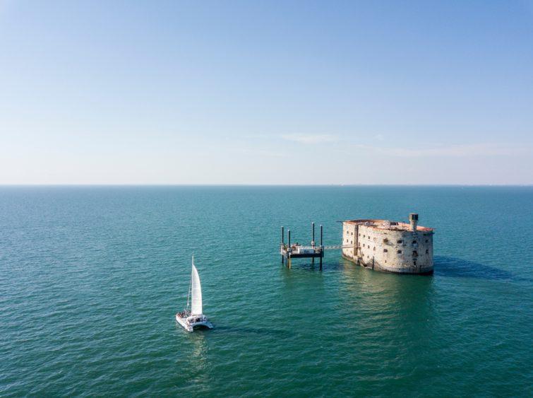 Vue aérienne de Fort Boyard, La Rochelle