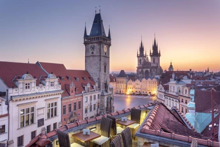 Terrasse à l'hôtel U Prince, Prague